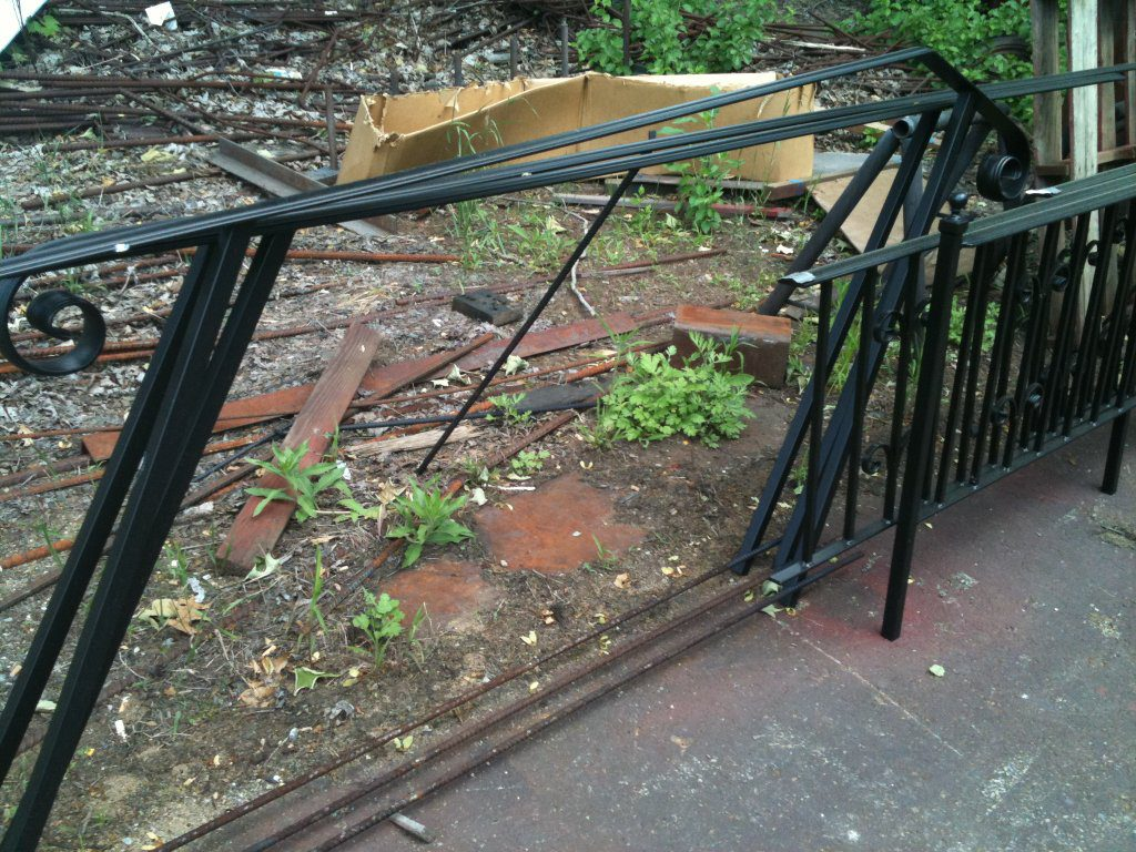 Wrought Iron Hand Rail at the Welder