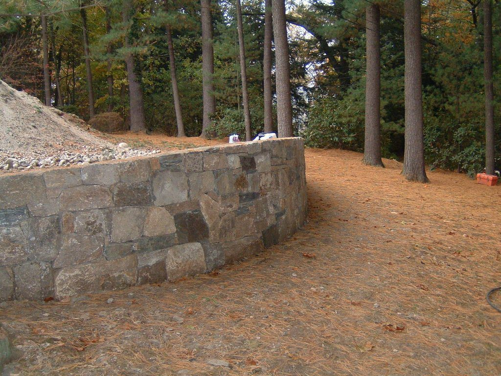 Curved Retaining Stone Wall
