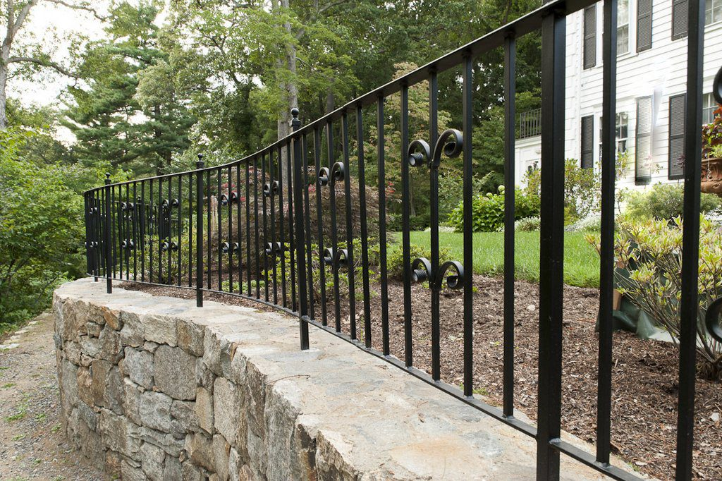 Wrought Iron Large Decorative Railing  (Access Road View)