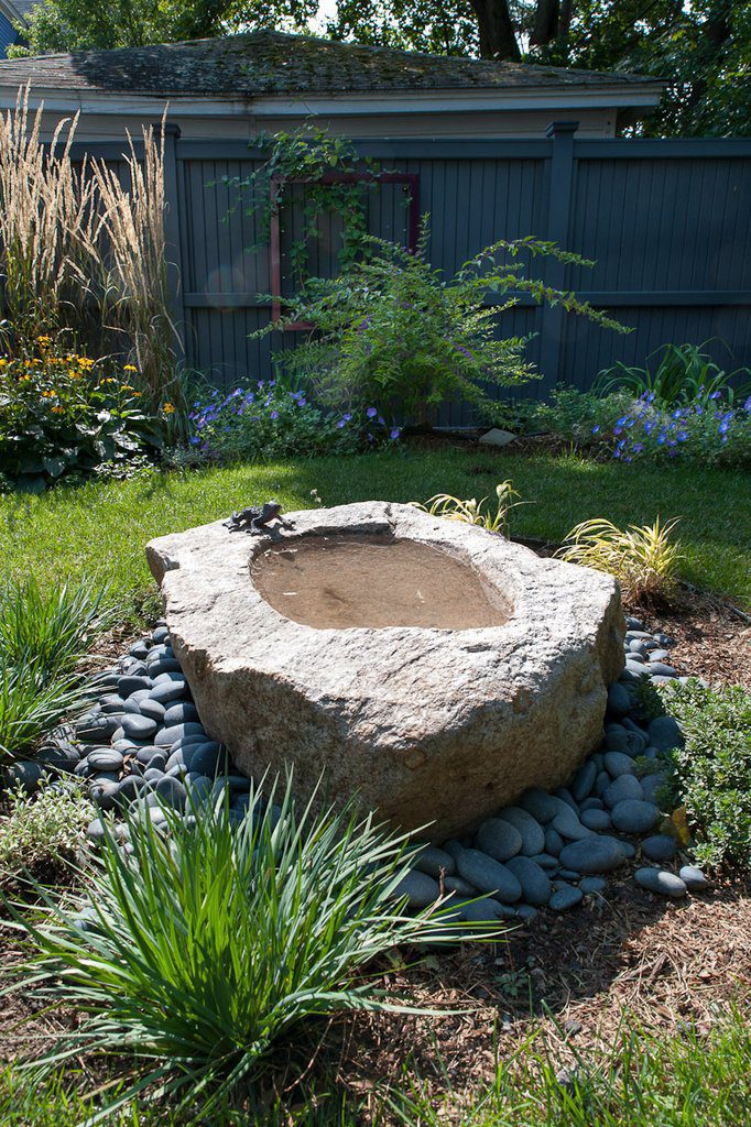Stone Basin Water Feature and Doggie Bowl