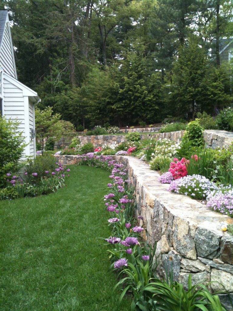 Terrace Retaining Walls Late Spring