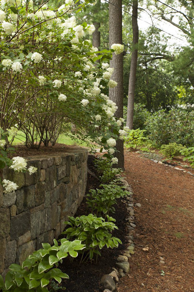 Curved Retaining Wall post planting