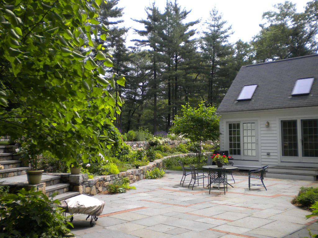 Large Entertaining Blue Stone Patio (Opposite View)